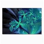 Turquoise Ice Crystal Fantasy Postcard 5  x 7