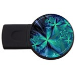 Turquoise Ice Crystal Fantasy USB Flash Drive Round (2 GB)
