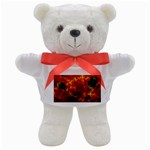 Red Hellstorm Goth Punk Fractal Teddy Bear