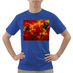 Red Hellstorm Goth Punk Fractal Dark T-Shirt