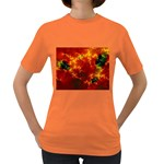 Red Hellstorm Goth Punk Fractal Women s Dark T-Shirt