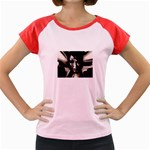 Gothic Girl in Computer Fantasy Women s Cap Sleeve T-Shirt