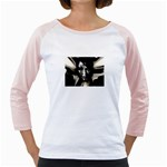 Gothic Girl in Computer Fantasy Girly Raglan
