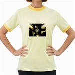 Gothic Girl in Computer Fantasy Women s Fitted Ringer T-Shirt