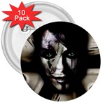 Gothic Girl in Computer Fantasy 3  Button (10 pack)