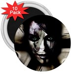 Gothic Girl in Computer Fantasy 3  Magnet (10 pack)