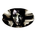 Gothic Girl in Computer Fantasy Magnet (Oval)