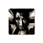 Gothic Girl in Computer Fantasy Magnet (Square)