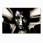 Gothic Girl in Computer Fantasy Postcard 4 x 6  (Pkg of 10)