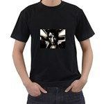 Gothic Girl in Computer Fantasy Black T-Shirt