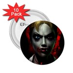 Gothic Blonde Vampire Goth 2.25  Button (10 pack)