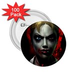 Gothic Blonde Vampire Goth 2.25  Button (100 pack)