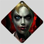 Gothic Blonde Vampire Goth Car Window Sign
