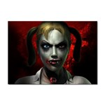 Gothic Blonde Vampire Goth Sticker A4 (10 pack)