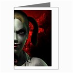 Gothic Blonde Vampire Goth Greeting Card