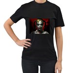 Gothic Blonde Vampire Goth Women s Black T-Shirt