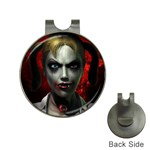 Gothic Blonde Vampire Goth Golf Ball Marker Hat Clip