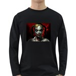 Gothic Blonde Vampire Goth Long Sleeve Dark T-Shirt