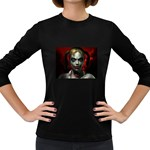 Gothic Blonde Vampire Goth Women s Long Sleeve Dark T-Shirt