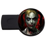 Gothic Blonde Vampire Goth USB Flash Drive Round (4 GB)