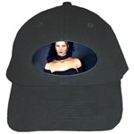 Gothic Girl Black and Blue Black Cap