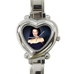Gothic Girl Black and Blue Heart Italian Charm Watch