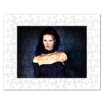 Gothic Girl Black and Blue Jigsaw Puzzle (Rectangular)