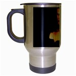 Gothic Girl Black and Blue Travel Mug (Silver Gray)