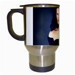Gothic Girl Black and Blue Travel Mug (White)
