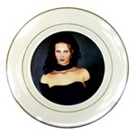 Gothic Girl Black and Blue Porcelain Plate