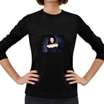 Gothic Girl Black and Blue Women s Long Sleeve Dark T-Shirt