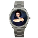 Gothic Girl Black and Blue Sport Metal Watch