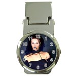 Gothic Girl Black and Blue Money Clip Watch