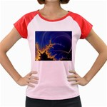 Blue Moon Mandelbrot Fractal Fantasy Women s Cap Sleeve T-Shirt