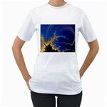 Blue Moon Mandelbrot Fractal Fantasy Women s T-Shirt
