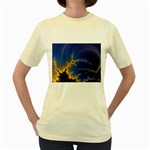 Blue Moon Mandelbrot Fractal Fantasy Women s Yellow T-Shirt