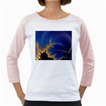 Blue Moon Mandelbrot Fractal Fantasy Girly Raglan
