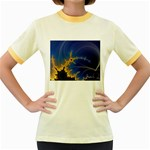 Blue Moon Mandelbrot Fractal Fantasy Women s Fitted Ringer T-Shirt