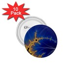 Blue Moon Mandelbrot Fractal Fantasy 1.75  Button (10 pack)