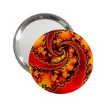 Burning Yellow Flame Fire Fractal 2.25  Handbag Mirror