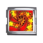 Burning Yellow Flame Fire Fractal Mega Link Italian Charm (18mm)