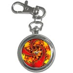 Burning Yellow Flame Fire Fractal Key Chain Watch