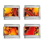 Burning Yellow Flame Fire Fractal 9mm Italian Charm (4 pack)