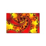 Burning Yellow Flame Fire Fractal Sticker (Rectangular)