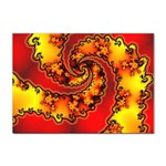 Burning Yellow Flame Fire Fractal Sticker (A4)