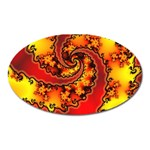 Burning Yellow Flame Fire Fractal Magnet (Oval)