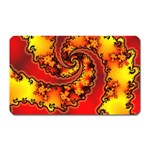Burning Yellow Flame Fire Fractal Magnet (Rectangular)