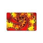 Burning Yellow Flame Fire Fractal Magnet (Name Card)