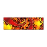 Burning Yellow Flame Fire Fractal Sticker Bumper (100 pack)