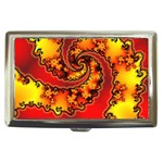 Burning Yellow Flame Fire Fractal Cigarette Money Case